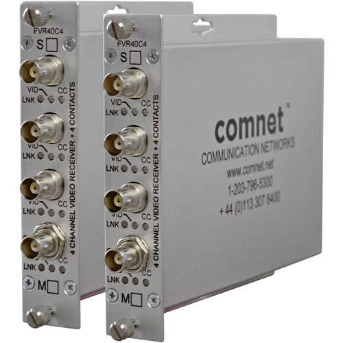 COMNET FVR4C4B Video and Contact Closure Receiver Unit