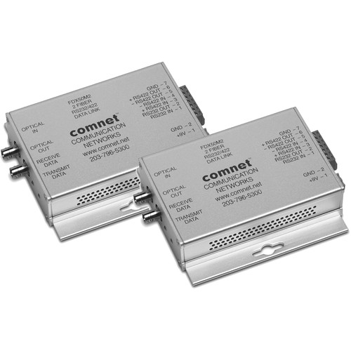 COMNET Mini RS232/422 Point-To-Point Multimode Data Transceiver (ST Connector, Up to 3.7 mi)