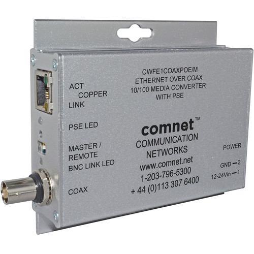 COMNET 100 Mbps Ethernet-over-Coax with PoE Module (Up to 1000')