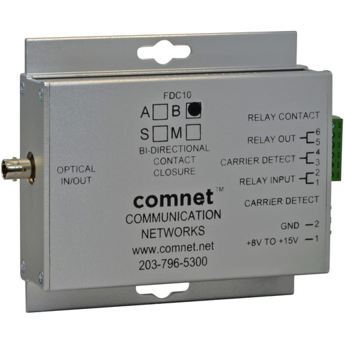 COMNET Small Contact Closure Single Mode Transceiver (1550/1310nm, Conformally Coated Circuit Boards, 43 mi)