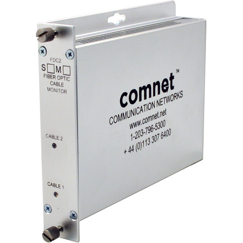 COMNET FDC2 Dual-Channel Fiber Optic Cable Breakage Monitor / Detector (Multimode)