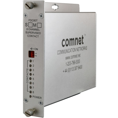 COMNET 8-Channel Supervised Contact Closure Single Mode Transmitter (Up to 43 mi)