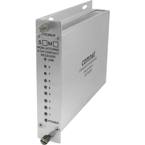 COMNET 8-Channel Contact Closure Multimode Receiver (Non-Latching, Up to 10 mi)