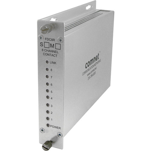 COMNET 8-Channel Contact Closure Multimode Receiver (Conformally Coated Circuit Boards,10 mi)