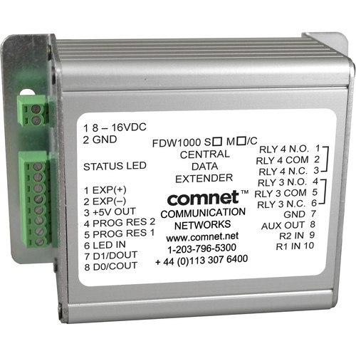 COMNET Multimode Optical Wiegand Extender Central Unit (Up to 2 Miles)