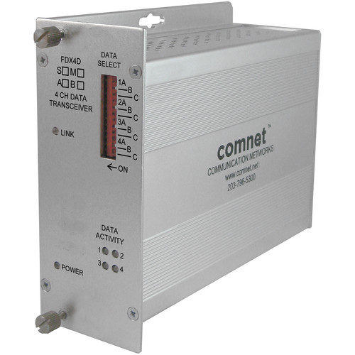 COMNET Single Mode 4-Channel 1550/1310nm Data Transceiver (Up to 43 mi)