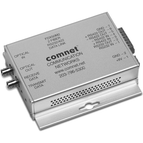 COMNET ValueLine Multimode RS232/422 Data Transceiver (850nm, Up to 2.5 mi)