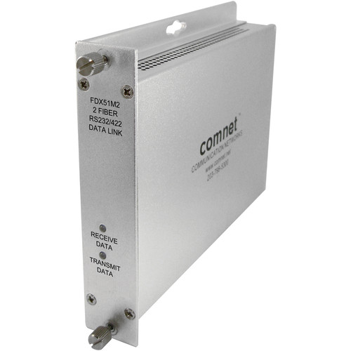 COMNET ValueLine Multimode Rack-Mountable RS232/422 Data Transceiver (850nm, Up to 2.5 mi)