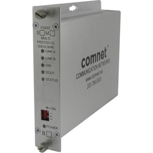COMNET FDX57 Self-Healing Ring Multimode RS232/422/485 Data Transceiver Unit ( 2.5 mi)