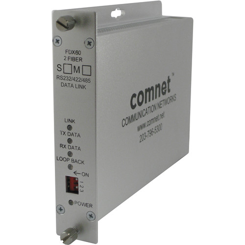 COMNET RS-232/RS-422/RS-485 Multimode Data Transceiver (Rack-Mountable, Up to 2.5 mi)
