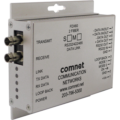 COMNET RS-232/RS-422/RS-485 Multimode Mini Data Transceiver ( Up to 2.5 mi)