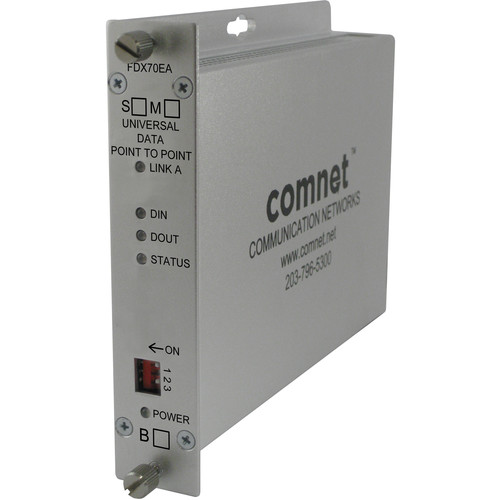 """COMNET Universal RS232/422/485 Data Point-to-Point """"A"""" End Single Mode Transceiver (43 mi)"""
