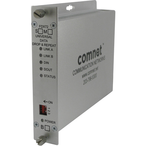 COMNET Single Mode Universal Data Drop & Repeat Multi-Protocol Data Transceiver (Up to 25 mi)
