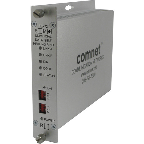 COMNET Multi-Protocol RS232/422/485 Self-Healing Ring Universal Data Transceiver (Single-Mode)
