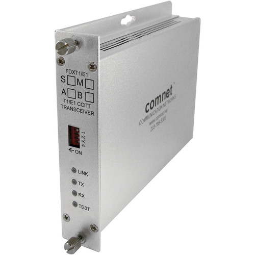 COMNET T1/E1 Universal Point-to-Point Single-Mode Transceiver (A-End)