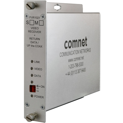 COMNET Video Receiver/Return Data Transceiver with Multimode 1550/1310nm 10-Bit Digital Video (Up to 2 mi)