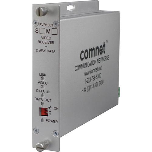 COMNET Video Receiver/Data Transceiver with 10-Bit Digital Video & Multimode Bi-Directional Data (Up to 2 mi)