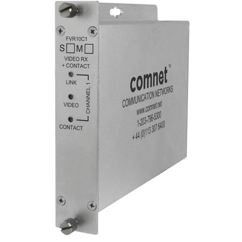 COMNET Single-Channel ComFit Video/Contact Multimode Fiber Receiver (Up to 2.5 mi)