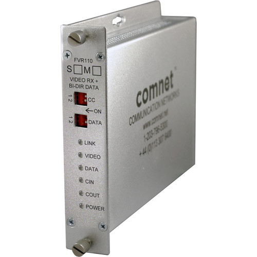 COMNET Single-Mode 10-Bit Digitally Encoded Video Receiver/Data Transceiver for BiLinx & Bi-Phase Control (Up to 30 mi)