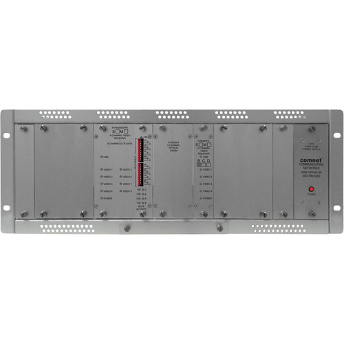 COMNET 12-Channel Digitally Encoded Video + 8 Bi-Directional Data Channels Multimode Video Receiver/Data Transceiver (Up to 0.621 mi)