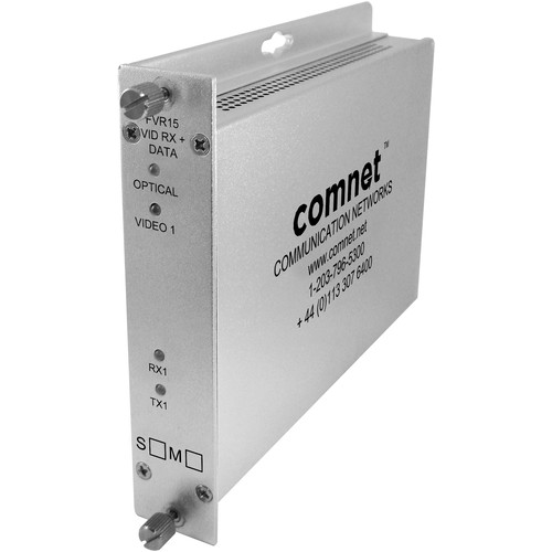 COMNET Multimode Video Receiver with Return Data Transceiver (Up to 1.5 mi)