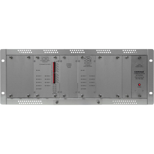 COMNET 16-Channel Digitally Encoded Video + 8 Bi-Directional Data Channels Single Mode Video Receiver/Data Transceiver (Up to 22 mi)