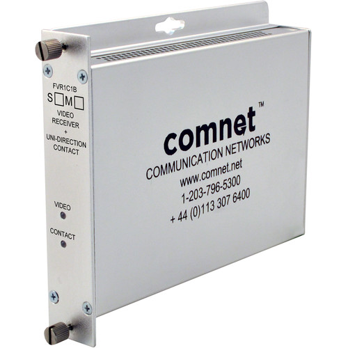 COMNET Single Mode 1310nm 8-Bit Digitally Encoded Video Receiver with Contact Closure (Up to 33 mi)