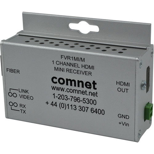 COMNET Single Channel Mini HDMI Digital Interface Multimode Fiber Link Receiver (Up to 3280')