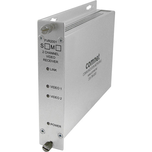 COMNET Single Mode 1310nm 2-Channel Digital Video Multiplexer Receiver (Up to 43 mi)