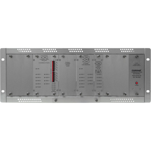 COMNET Single Mode 20-Channel Digitally Encoded Video + 8 Bi-Directional Data Channels Video Receiver/Data Transceiver (Up to 22 mi)