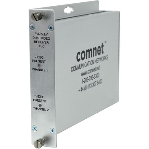 COMNET Multimode 850nm AGC Dual AM Video Receiver (Up to 2.5 mi)