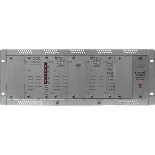 COMNET 28-Channel Single-Mode 10-Bit Digital Video Receiver with 8 Bi-Directional Data Channels