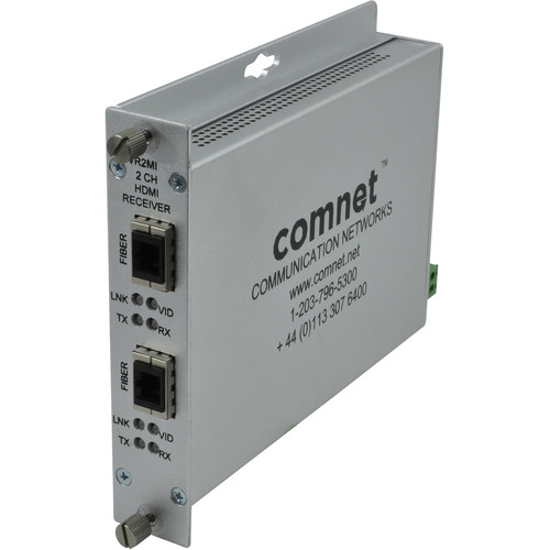 COMNET Dual Channel HDMI Over Multimode Fiber Receiver with HDCP / EDID / CEC (Up to 3280')