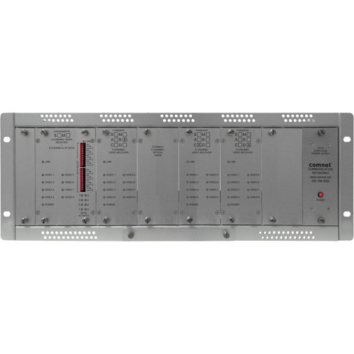 COMNET Single Mode 10-Bit 32-Channel Video Receiver/8-Channel Bi-Directional Data Transceiver (Up to 22 mi)