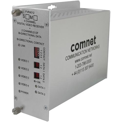 COMNET 4 Video / 2 Bi-directional Data / 1 Contact Closure Single Mode Receiver (Up to 43 mi)