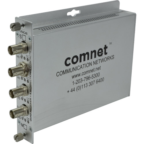 COMNET Single Mode 4-Channel Video with 4-Channel Contact Closure Receiver (Up to 33 mi)