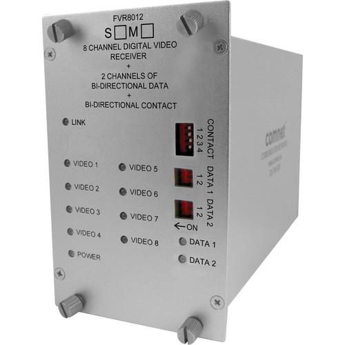 COMNET 8 Video / 2 Bi-Directional Data / 1 Contact Closure Multimode Receiver (Up to 1.2 mi)