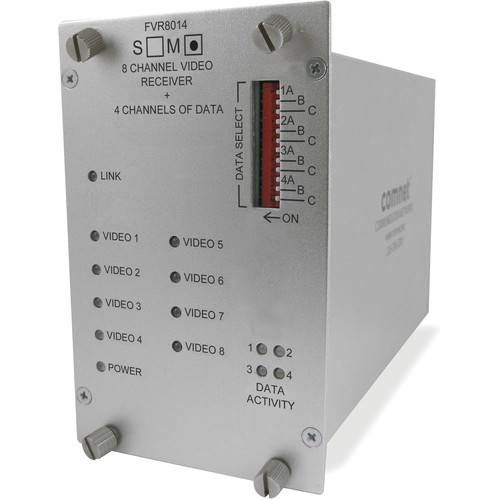 COMNET FVR8014M1 8-Channel Digital Video / 4 Bi-Directional Data Receiver for FVT8014M1 Transmitter