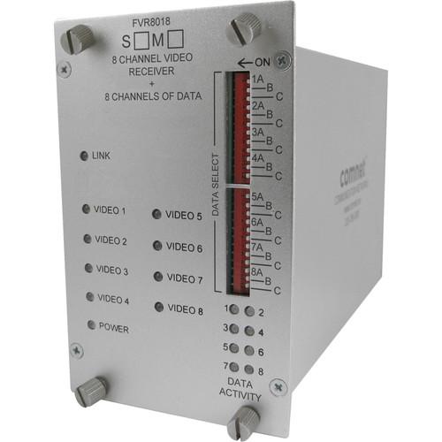 COMNET Multimode 1550/1310nm 8-Channel Digital Video Receiver/8 Bi-Directional Data Transceiver (Up to 1.2 mi)