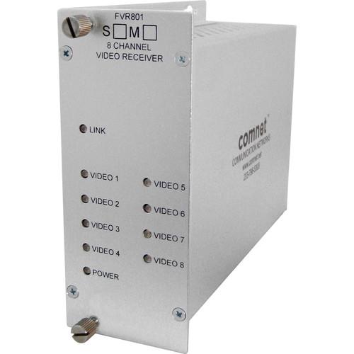 COMNET Multimode 8-Channel 1310nm 10-Bit Digital Video Receiver (Up to 1.2 mi)