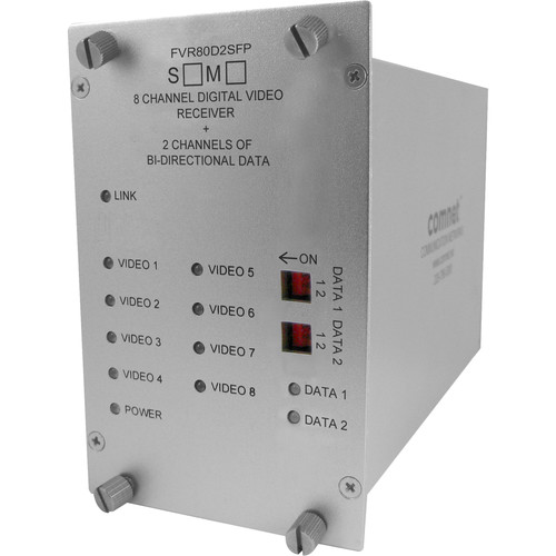 COMNET 8-Channel Video, 2-Channel Bidirectional Data/1-Channel Bidirectional Contact Closure Receiver