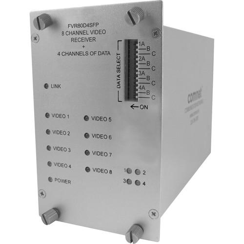 COMNET FVR80D4SFP Optical Video Link Receiver (8-Channel Digital Video + 4-Channel Bi-Directional Data)