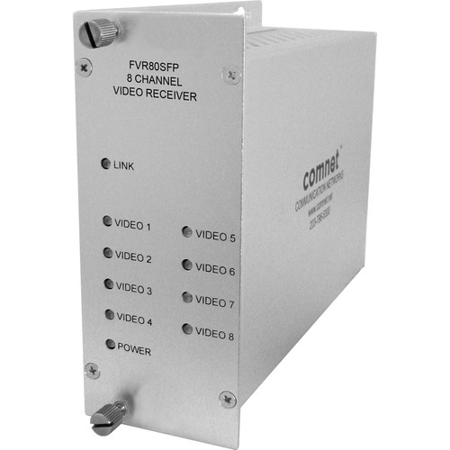 COMNET 8-Channel Digital Video Receiver with SFP Optical Devices (Up to 300')