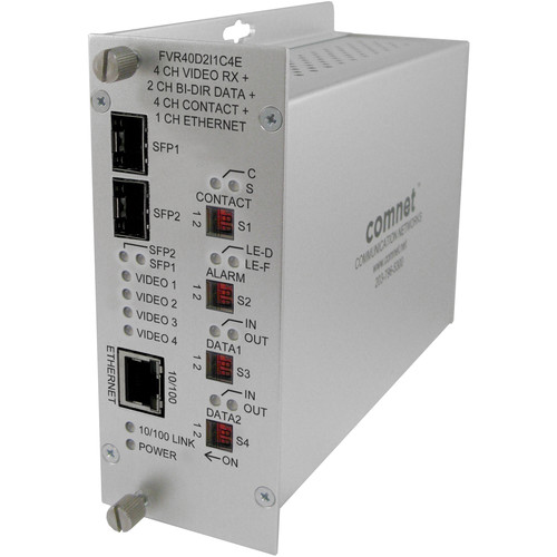 COMNET 10-Bit Digitally Encoded Video Ethernet Receiver Unit with Dual SFP Optical Ports
