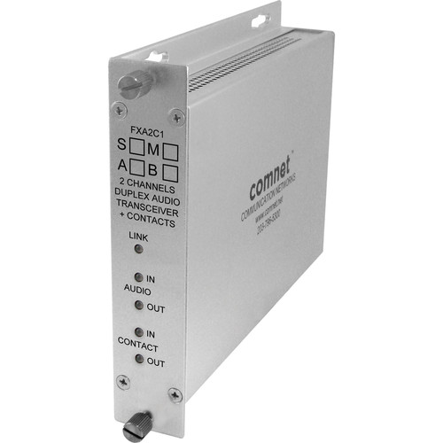 COMNET Single Mode 1310/1550nm 2-Channel Bi-Directional Audio Receiver (Up to 30 mi)