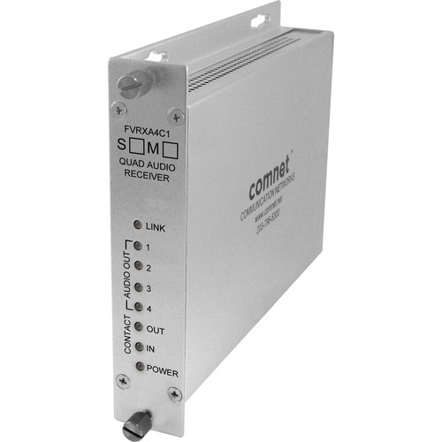 COMNET Single Mode 1310/1550nm 4-Channel Audio Receiver (Up to 30 mi)