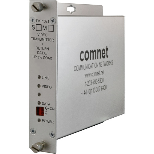COMNET Single Mode 1310/1550nm 10-Bit Digital Video Transmitter/Return Data Transceiver (Up to 43 mi)
