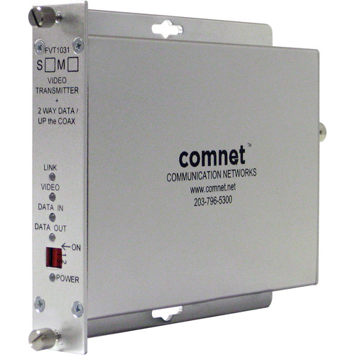 COMNET Multimode 10-Bit Digital Video Transmitter/Bi-Directional Data Transceiver (Conformally Coated Circuit Boards,Up to 2 mi)
