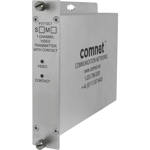 COMNET Single-Channel ComFit Single Mode Video Transmitter with Contact Closure (Up to 33 mi)