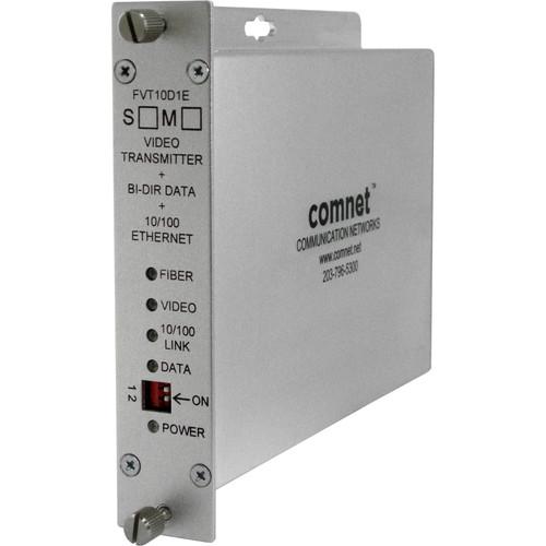 COMNET Single Mode 10-Bit Digital Video Transmitter/Bi-Directional Data Transceiver with 10/100Mbps Ethernet Port (Up to 30 mi)